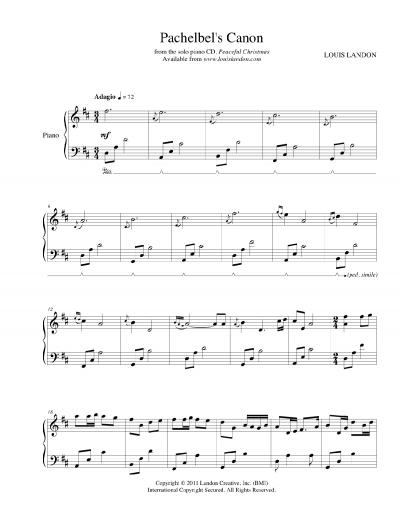 Click photo to enlarge  Pachelbel Canon Piano